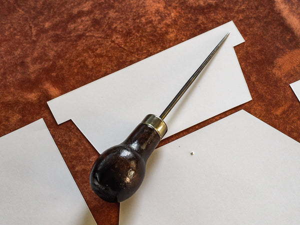 Luava leather working tools for a beginner wallet template awl