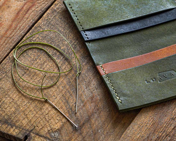 Luava leather working tools for a beginner john james harness needles leather wallet waxed thread