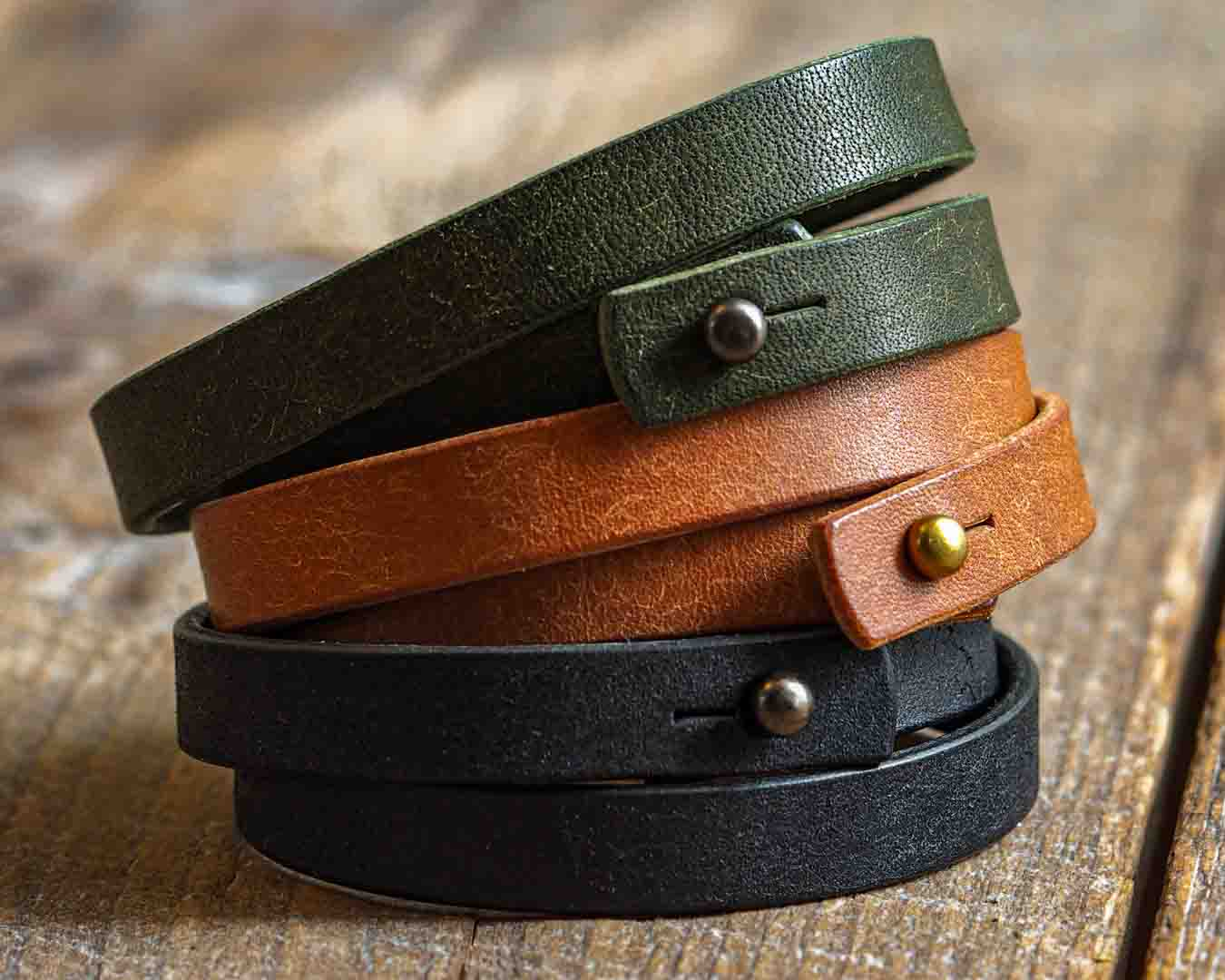 This product is Luava leather double wrist band badalassi carlo pueblo cognac olive black with a small article of how I crafted this product including tools, stages of the process and materials I used. Handmade in Finland by Luava