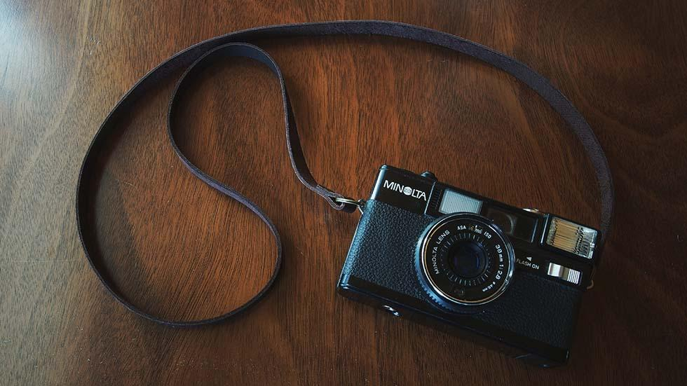 Luava handcrafted leather camera strap