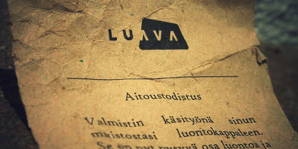 Luava aitoustodistus certificate of authenticity