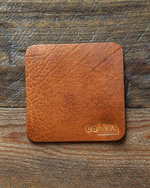 Luava leather coaster yak ryypy whiskey