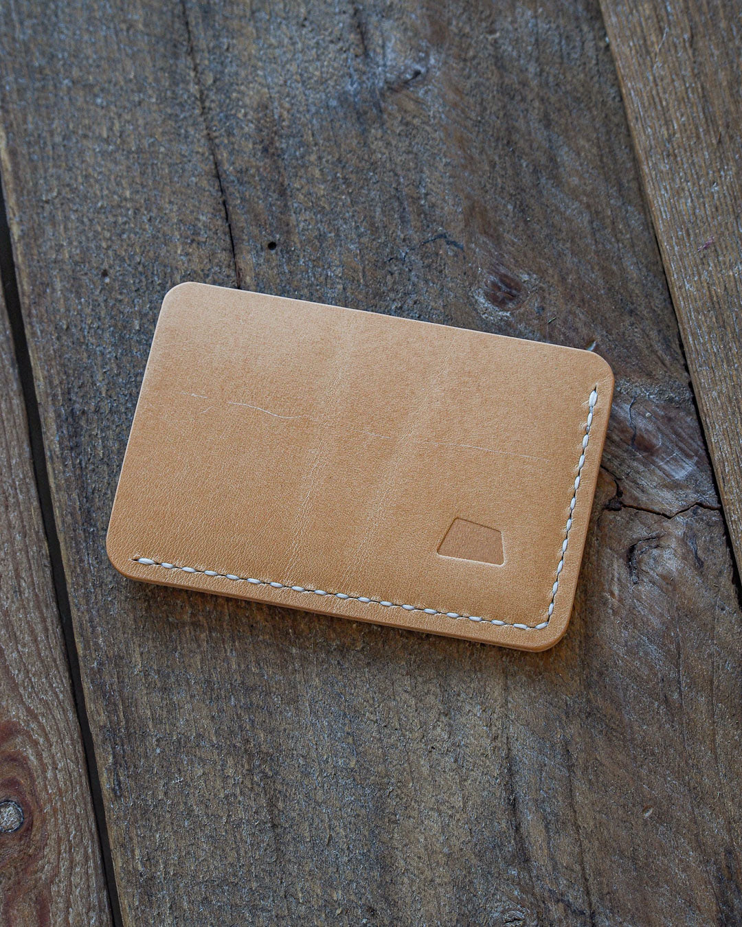 Luava handcrafted handmade leather wallet card holder cardholder maremma nude back