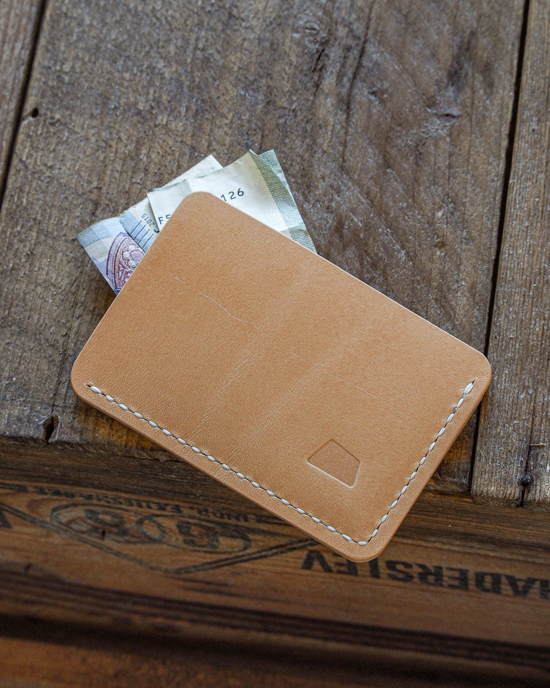 Luava handcrafted handmade leather wallet card holder cardholder maremma nude back in use