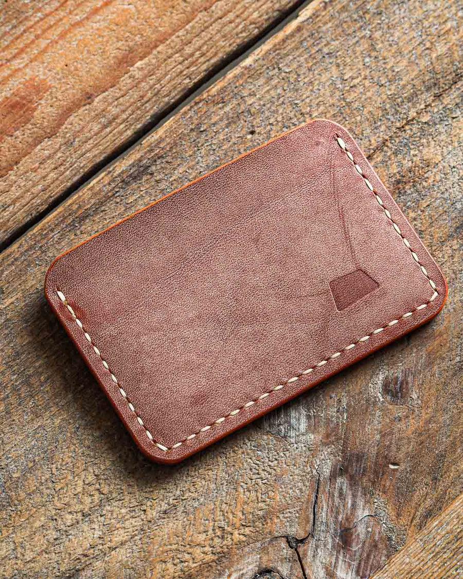 Luava handmade leather wallet handcrafted card holder cardholder made in finland proper ghost whiskey front