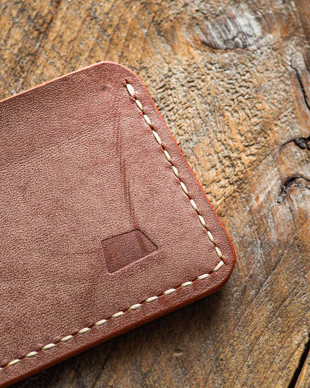 Luava handmade leather wallet handcrafted card holder cardholder made in finland proper ghost whiskey logo detail