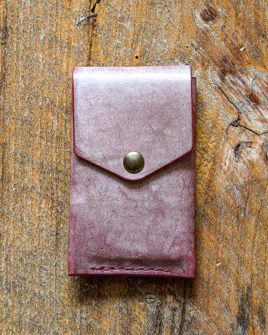 Luava handcrafted leather wallet premium ghost burgundy front