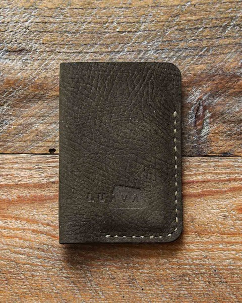 Luava handcrafted leather card holder moss wallet made in finland