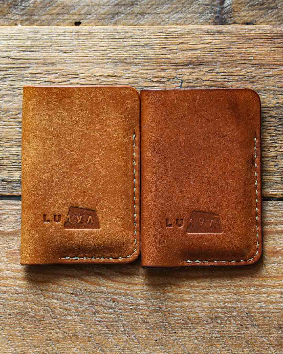 Luava leather card holder pueblo cognac patina