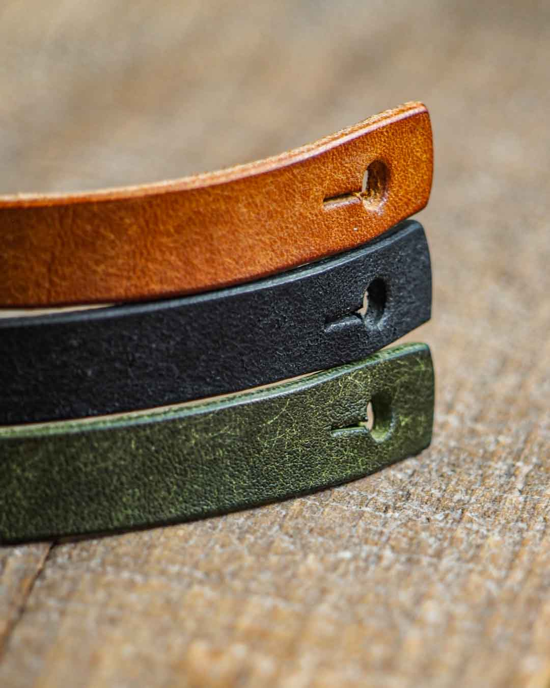 Luava leather double wrist band badalassi carlo pueblo color options
