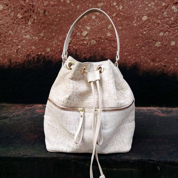 Bucket Bag - Creme Cork