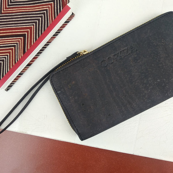 Zip around Cork wallet - Black