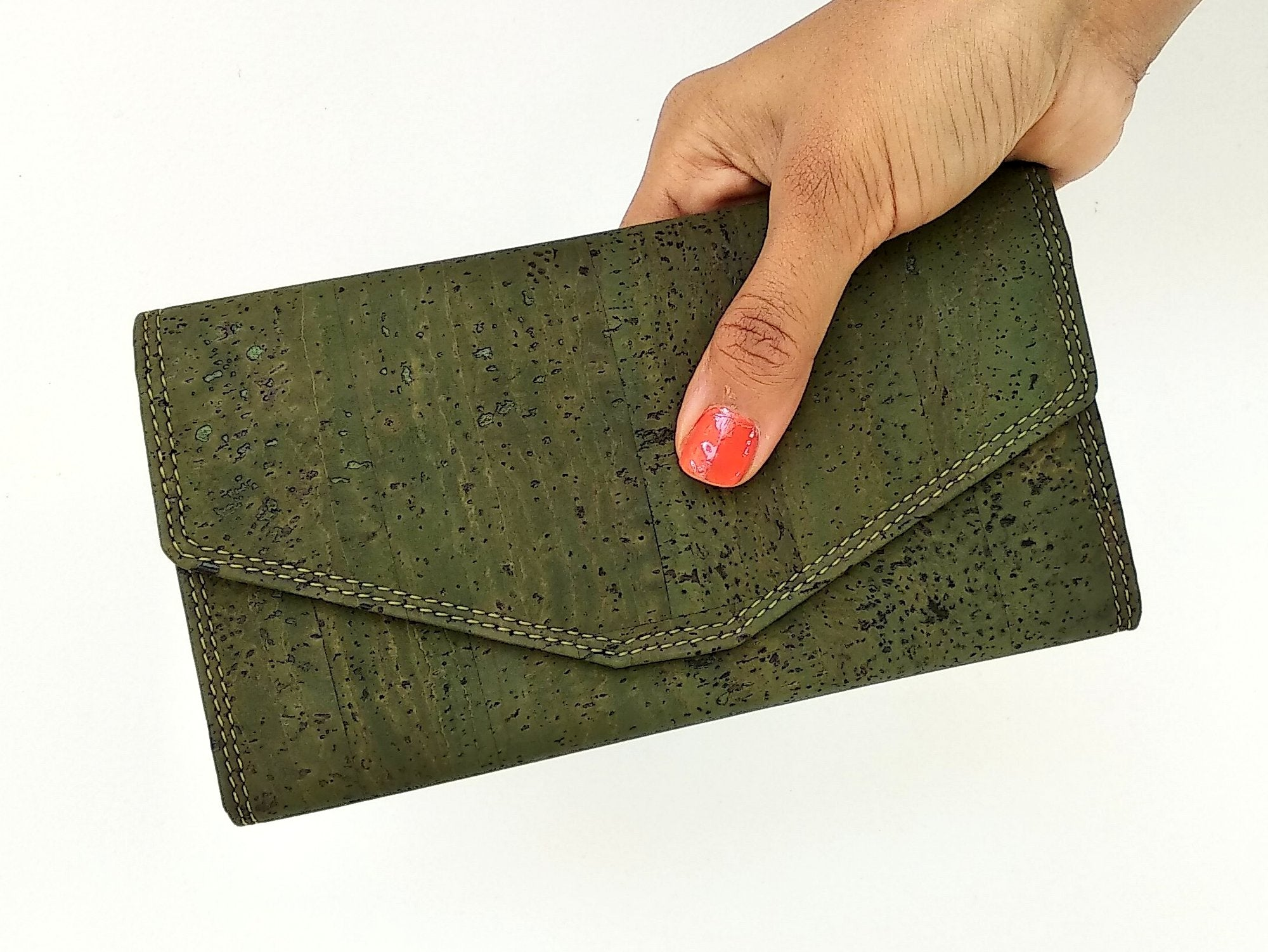 Candor Clutch wallet - Olive green