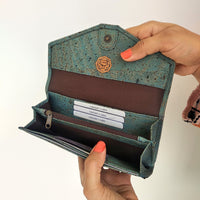 Candor Clutch wallet - Teal