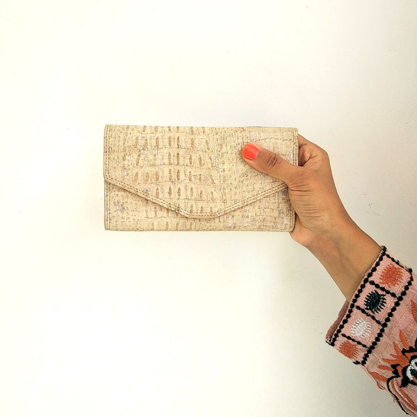 Candor Clutch wallet - Creme White