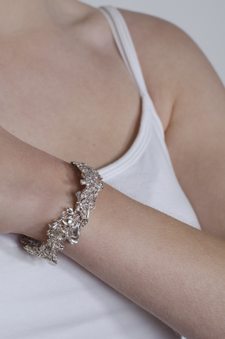 Eco silver bangle - Emille