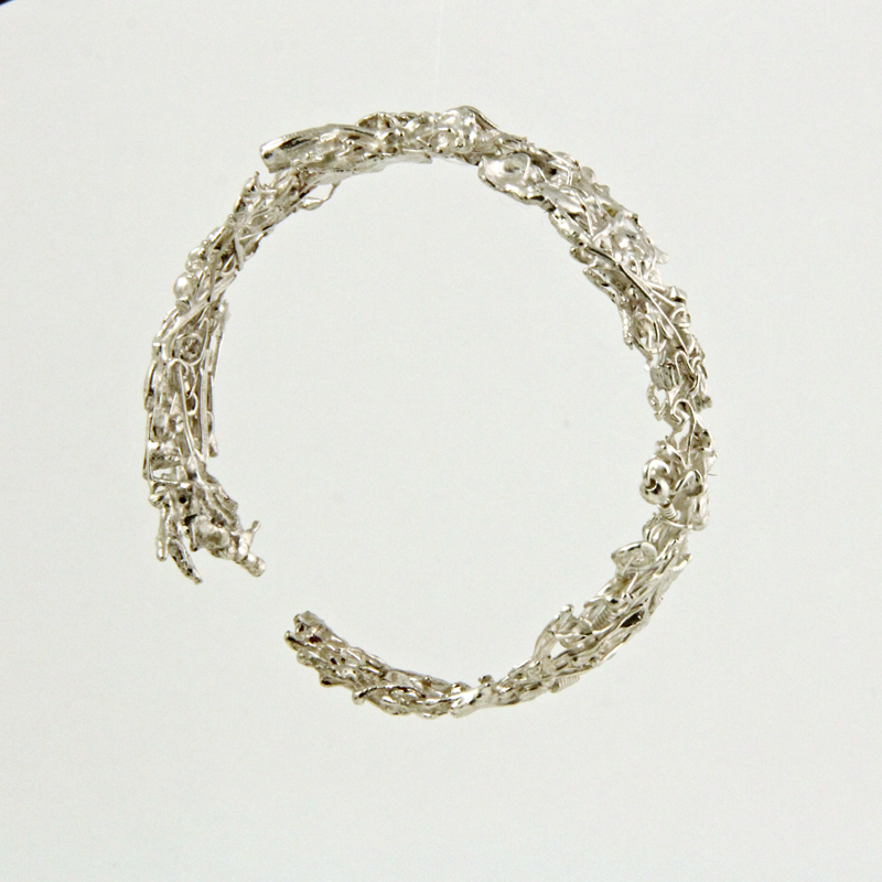 Shvil (Path) recycled eco silver bangle
