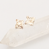 Recycled Reticulated Square Silver Studs