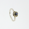 Kesem (Magic) silver and labrodite gem ring