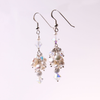 Long pearl cluster earrings