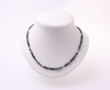 Pninim Shchorot (Black Pearl) Keshi freshwater pearl necklace with Swarowski crystals and silver beads.