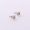 Rectangular Sterling Silver Studs