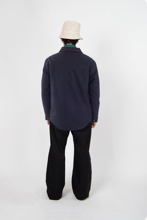 Shirt Jacket Techwool Navy