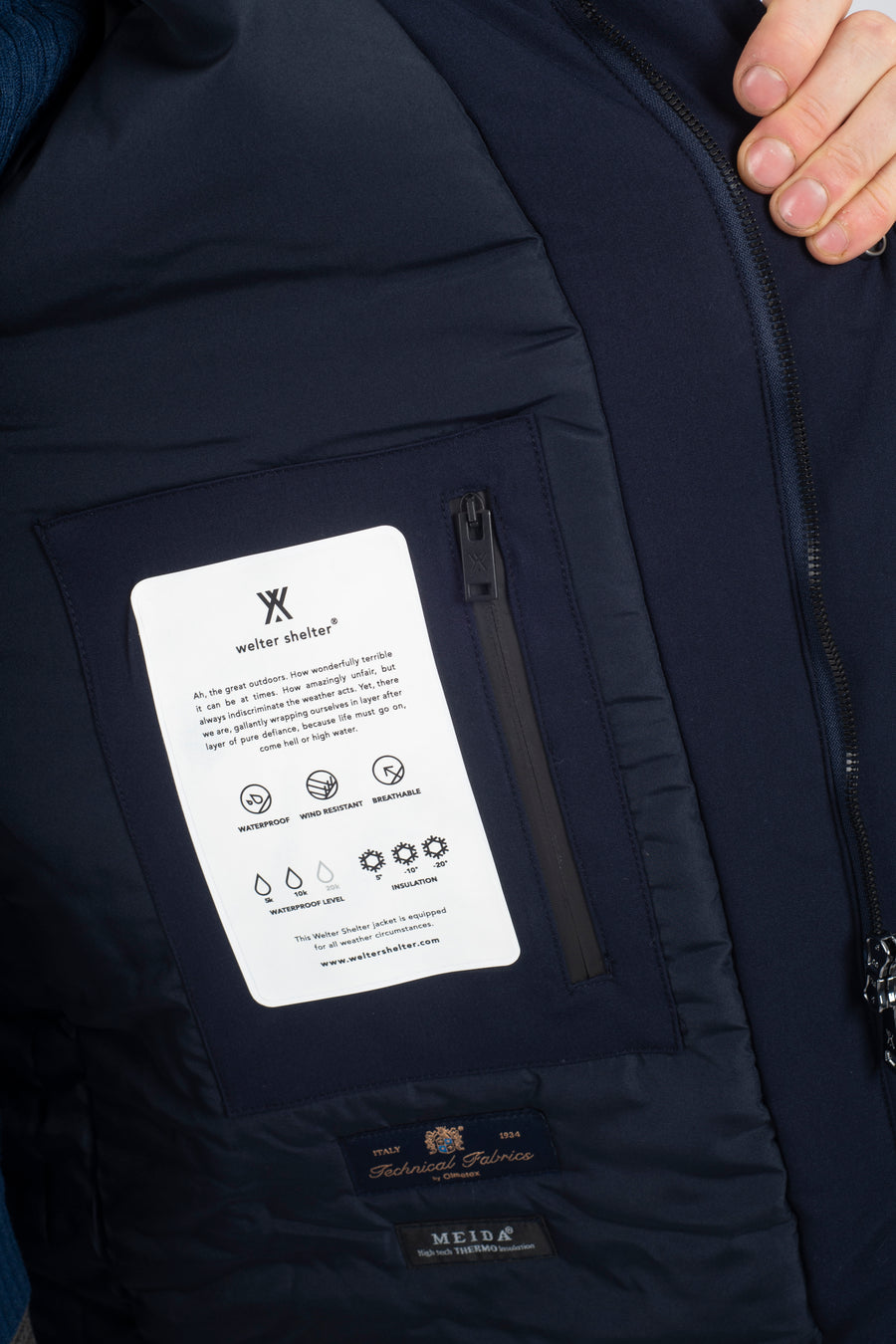 Marinero Parka Berlingo Navy - Welter Shelter - Waterproof, Windproof, breathable Packable