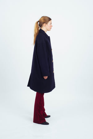 Overcoat Storm Wool System Navy - Welter Shelter - Waterproof, Windproof, breathable Packable