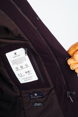 Techno Joe Techwool Burgundy - Welter Shelter - Waterproof, Windproof, breathable Packable