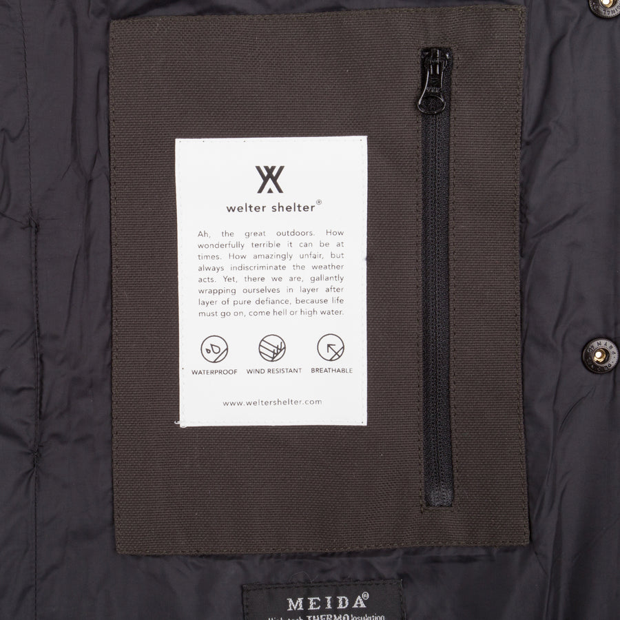 Not So Long Dong spoiler army with removable vest AW18 - Welter Shelter - Waterproof, Windproof, breathable Packable