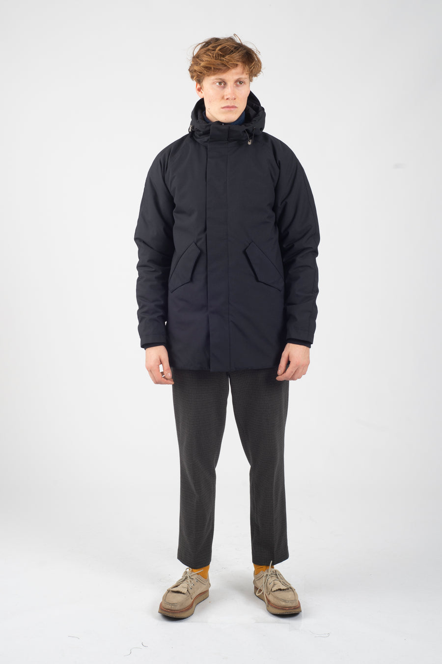 Marinero Parka Poly Rayon Navy - Welter Shelter - Waterproof, Windproof, breathable Packable