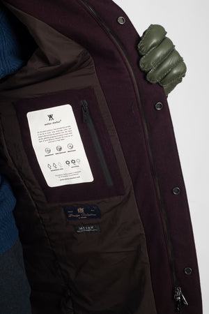 Long Dong Techwool Burgundy - Welter Shelter - Waterproof, Windproof, breathable Packable