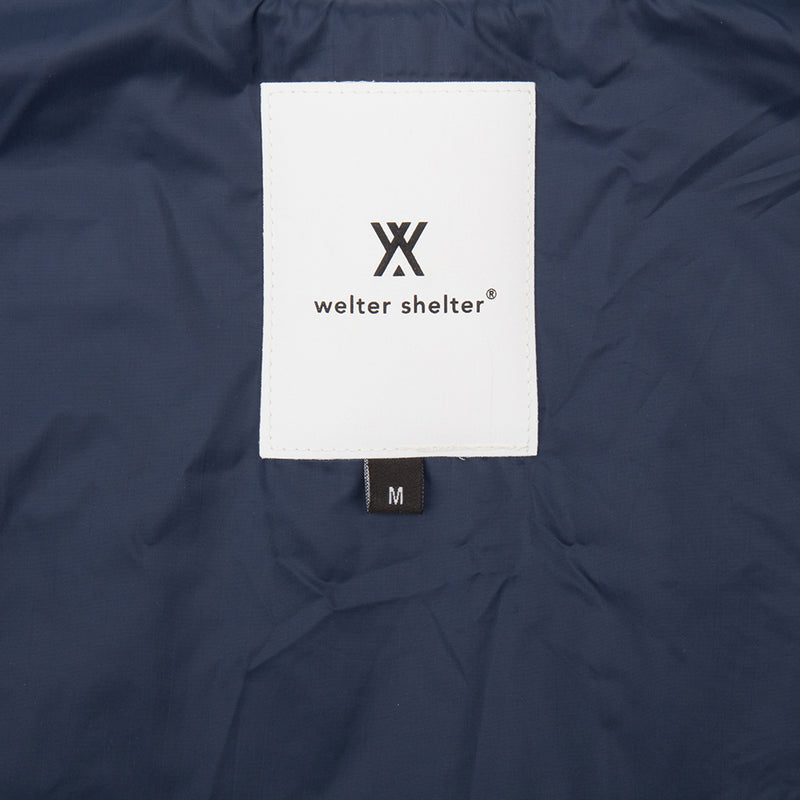 Long Dong gabardine navy with removable vest - Welter Shelter - Waterproof, Windproof, breathable Packable