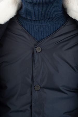 Not So Long Dong Techwool Navy with inner - Welter Shelter - Waterproof, Windproof, breathable Packable