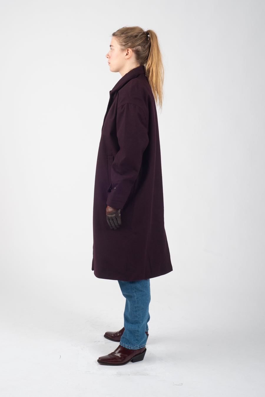 Overcoat Storm Wool System Burgundy