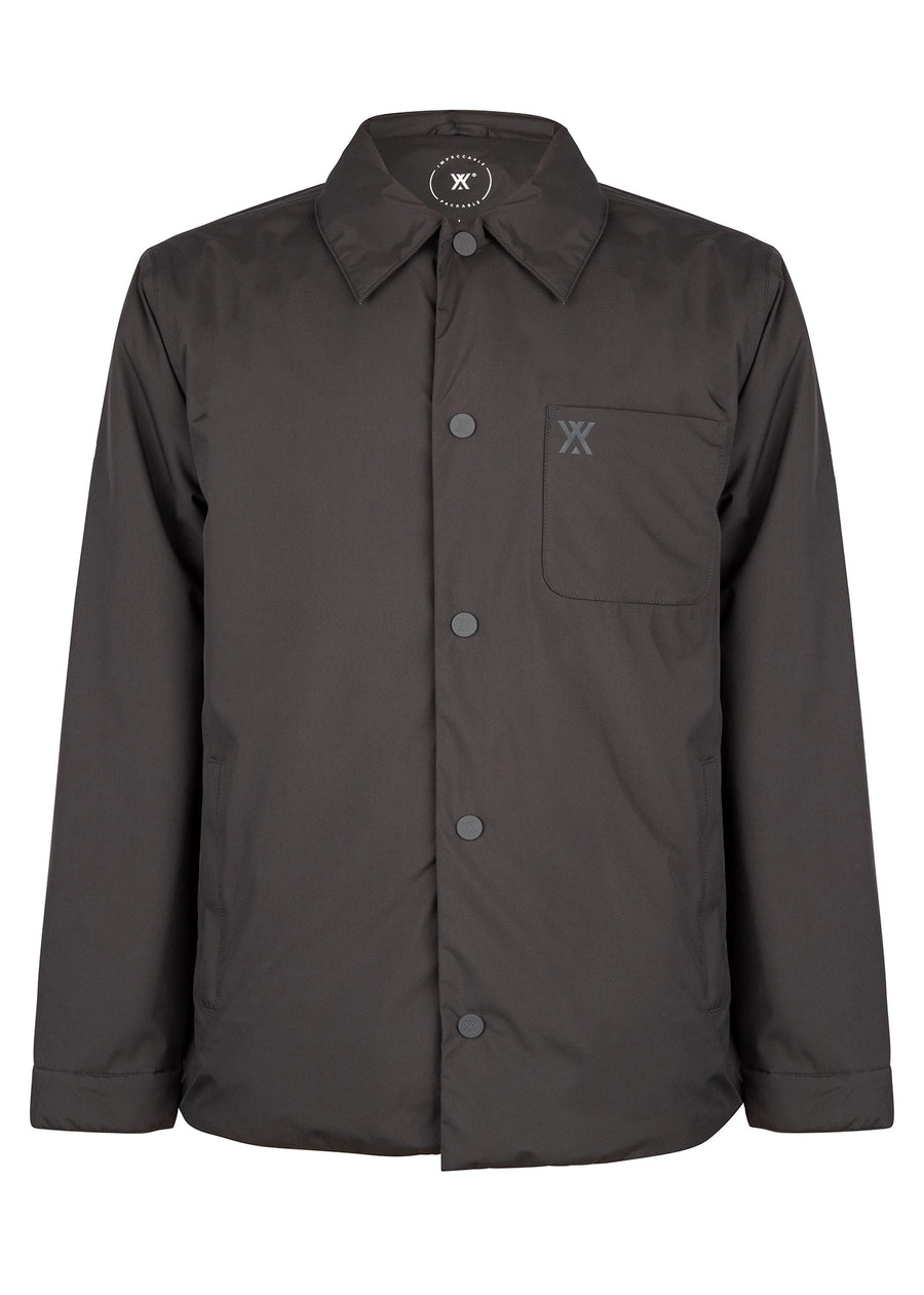 Shirt Jacket Padded Grey SS21