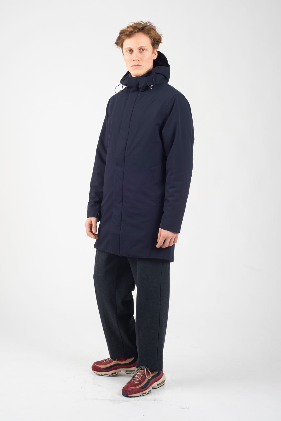 Terror Weather Parka Berlingo Navy Orange Lining