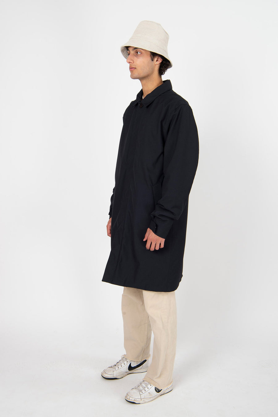 Long Dong Poly Rayon Navy