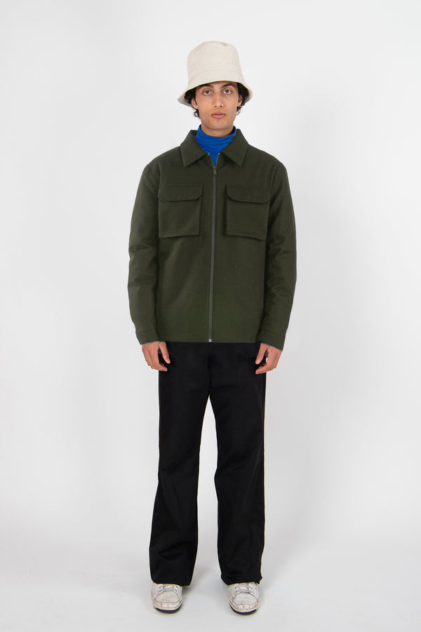 Shirt Jacket Techwool Army
