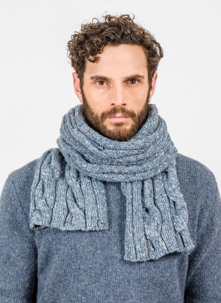 Fisherman Out Of Ireland Ribbed & Cable Scarf