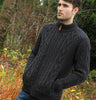 Gents Zip Aran Sweater