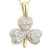 Diamond Encrusted Shamrock Pendant