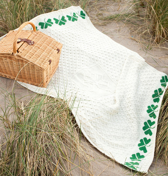 Shamrock Aran Throw