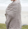 Patchwork Aran Throw Blanket Side