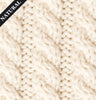 Aran Roll Neck Poncho Natural Details