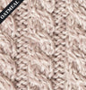 Patchwork Aran Throw Blanket Oatmeal