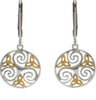 House of Lor - Round Celtic Triskele Earrings with Trinity Knot Details