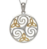 House of Lor - Round Celtic Triskele Pendant with Trinity Knot Details