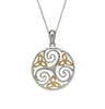 House of Lor - Round Celtic Triskele Pendant with Trinity Knot